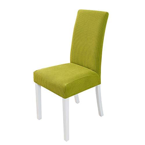 PETCUTE Stuhlhusse stuhlbezug Stretch Hussen für Stühle Spandex Stuhlhussen für Hochzeit Grün 6er Set