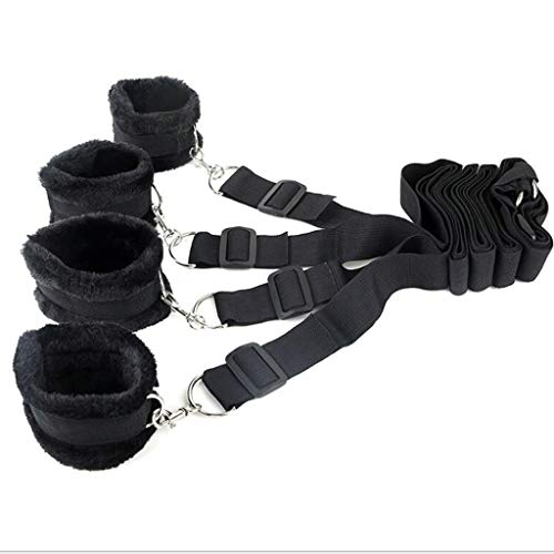 YGZ Bed Set Ankles and Wrist Straps Nylon Webbing Soft and Comfortable Adjustable Size for Couple Backpack
