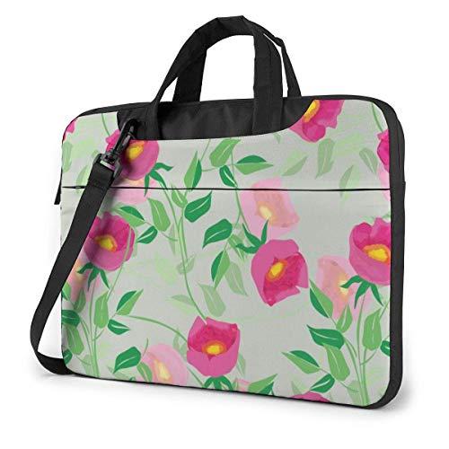Plant Flower (4) Laptop Sleeve Case Computer Tote Bag Shoulder Messenger Briefcase for Business Travel