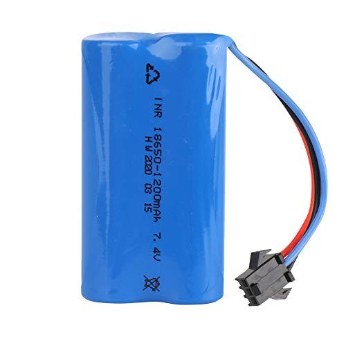 QoFina Paquete de Carreras de baterías RC de 7.4V 1200mAh para Modelos de automóviles, Aviones, Robots (Juguetes), Paquete de baterías RC de Alto Rendimiento + Posavasos como Regalo