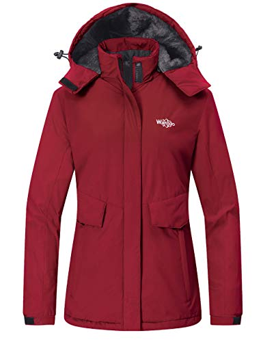 Wantdo Women's Mountain Skiing Jacket Windproof Snowboard Coat Raincoat Red M