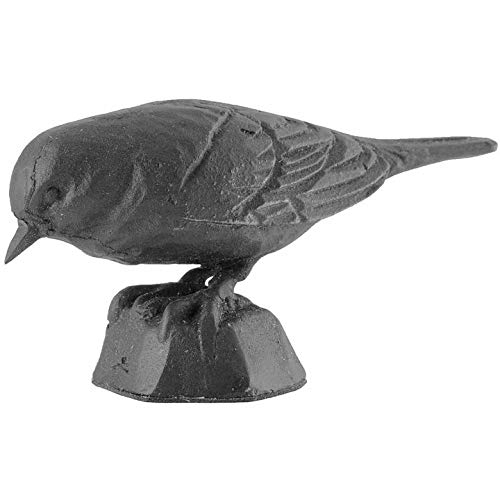 Wildlife Garden Sculpture d'oiseau en fonte Noir