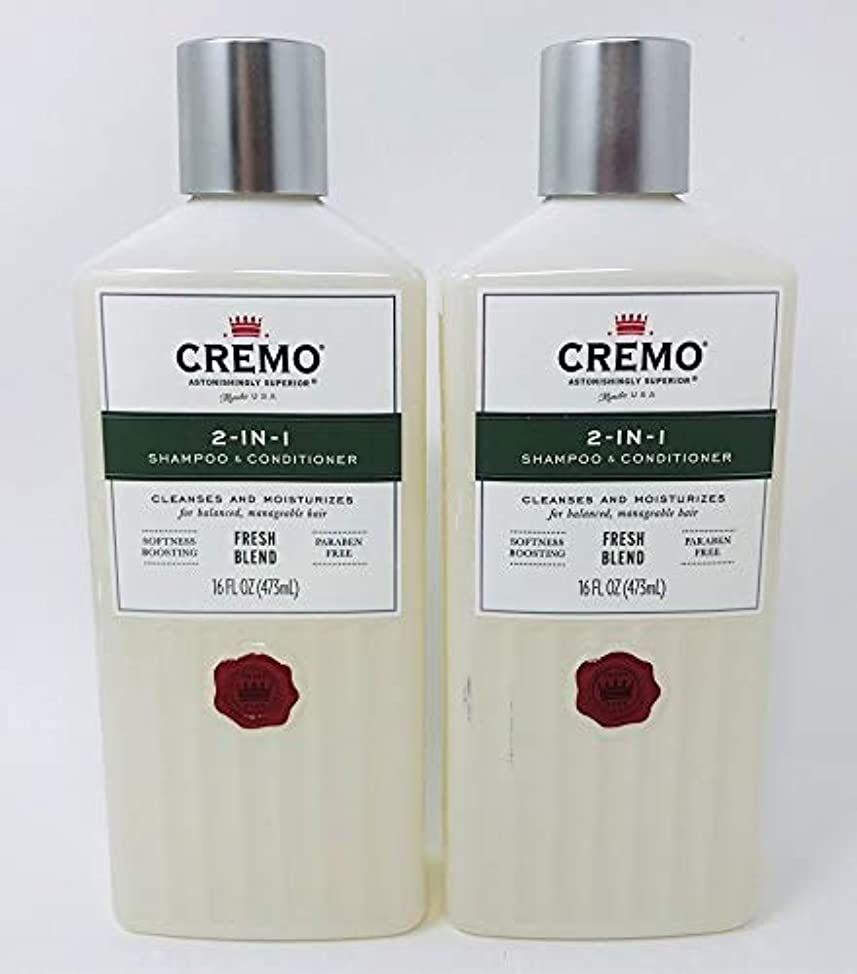 CREMO 2-in-1 Shampoo & Conditioner FRESH BLEND 16 OZ - 2-PACK