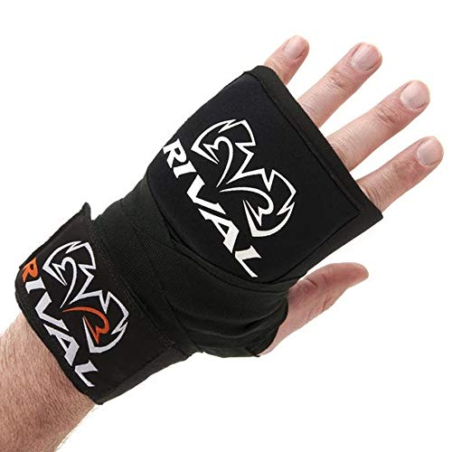 Rival Gel-Handbandagen für Erwachsene, zum Schutz beim Boxen, MMA, Kickboxen, Schwarz, 150
