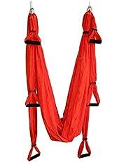 Slow Time Shop Aerial Yoga Swing Set - Aerial Yoga Swing Yoga Hängmatta Kit för Antigravity Träning med Justerbara Handtag Förlängningsremmar för Air Yoga Inversion övningar (2,5 x 1,5 m)