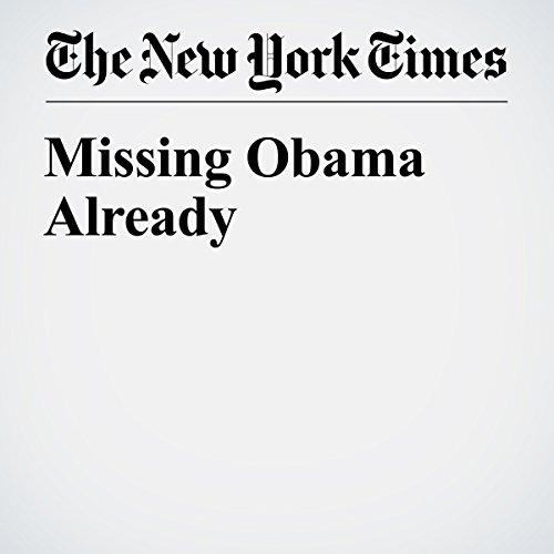 Missing Obama Already copertina