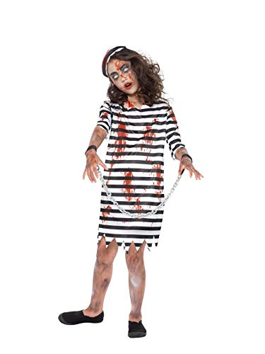 Smiffys Zombie Convict Girl, color blanco y negro, M-7-9 years (49846M)