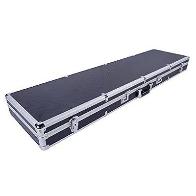 "Binrrio Rifle Case Hard Case for Gun Foam Briefcase with Key & Password Lock Double Safe Waterproof Portable Gun Box Case, Tactical Gun Case, Gun Safety, 53.14'' x 13.78'' x 4.72"" Black"