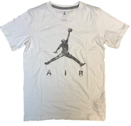 Nike Air Jordan Boys' 8-20 Jumpman Cotton T-Shirt (White 23, Medium)