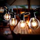 Lichterkette Außen, Infankey G40 10M Lichterkette Glühbirnen, 25+3 Glühbirnen/Strombetrieben/IP44 Wasserdicht, Lichterkette Außen Strom für Garten, Bäume, Terrasse, Weihnachten, Hochzeiten, Partys