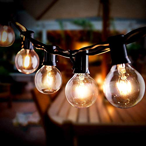 Outdoor String Lights Mains Powered, Infankey 35FT G40 Festoon Lights Outdoor with 25 Bulbs+3 Spares, IP44 Garden String Festoon Lights for Indoor & Outdoor Backyard Patio Garden Party Decoration