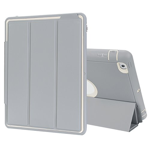 TKOOFN iPad 2/3/4 Case Drop Protection Rugged Protective Heavy Duty Shockproof iPad Case with Auto Wake/Sleep Smart Cover with Stand for iPad 2/3/4 (White)