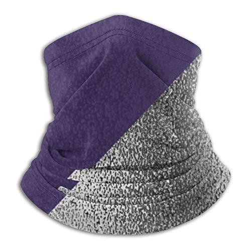 Hustor - Pasamontañas para el cuello, color morado y plateado metálico para pasamontañas