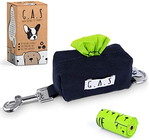 G A S Dog Poop Bag Dispenser Holder 10 to Charity Earth Friendly Plastic Free Cotton Canvas product image