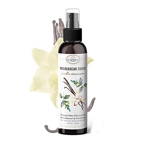 Natural Air Freshener Spray – 4oz Vanilla Cinnamon Oil Spray – Chemical Free Air Fresheners for Home, Room, Poop Sprays, Bathroom Odor Remover & Eliminator – PooPoo Smells – USA Made