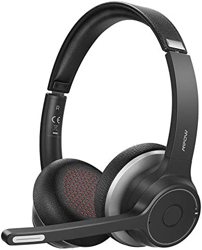Mpow Bluetooth Headset V5 0 with Dual Microphone Wireless PC Headphones CVC8 0 Noise Canceling product image