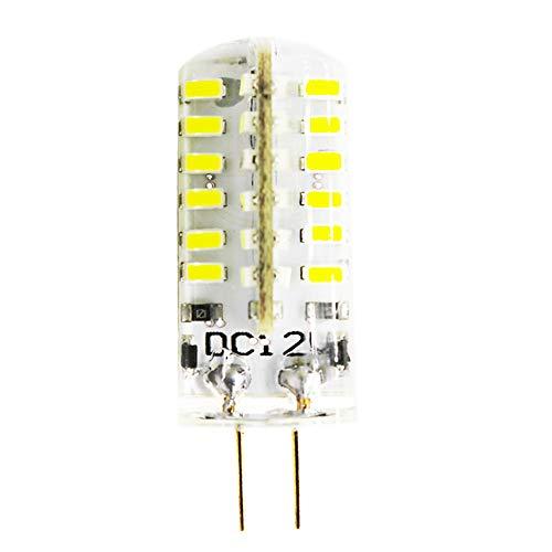 Bombilla LED G4 de 4 W, 48 x 3014SMD, 400 lm, repuesto para bombillas halógenas de 40 W, 12 V CC, 6000 K, luz blanca fría, ángulo de haz de 360°, 1 unidad