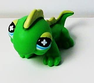 Littlest Pet Shop Figure Green Iguana #651 Lizard 1 1/2