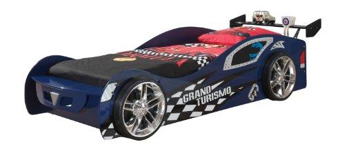 Vipack SCGT200B Grand Turismo, Circa 229 x 65 x 110 cm, Liegefläche 90 x 200 cm, lackiert aufgedruckte Rennwagen-Optik, blau