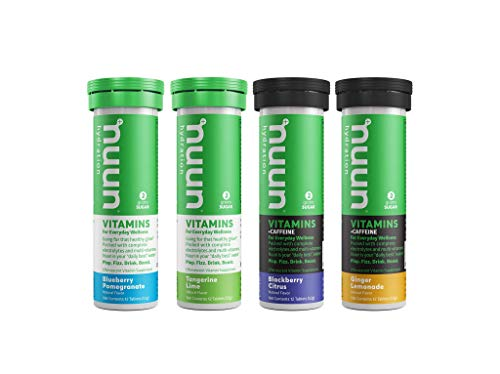 Nuun Vitamins: Vitamins + Electrolyte Drink Tablets, Mixed Flavor Box of 4 (48 Servings), 2 caffeinated flavors, 2 non-caffeinated flavors, Enhanced Wellness & Energy
