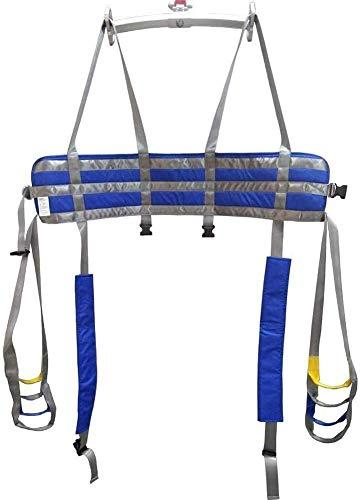 Z-SEAT Ganzkörper-Patientenliftschlingen Oberschenkel Hüfte Taille Lendenwirbelsäule Unterstützt Stehhilfen Trainer Beinübung mit gepolstertem Brustpuffer
