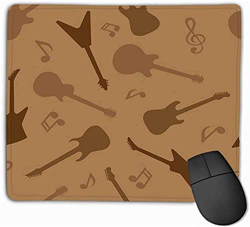 N/A Mouse Pad Gitaar Abstract Achtergrond Elektrische gitaren Silhouettes Psychedelische Rechthoek Rubber Mousepad 25 * 30Cm