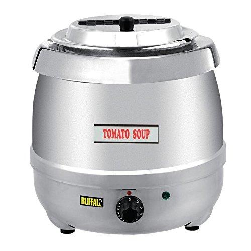 Buffalo Hervidor de sopa de acero inoxidable de 10 l de jarra electrica comercial 360 x 345 mm