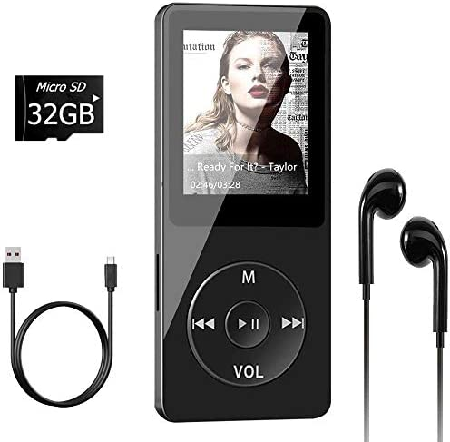 Aigital MP3 Player with 32GB TF Card and Supports Up to 128GB Memory Card Economic Multi Functional product image