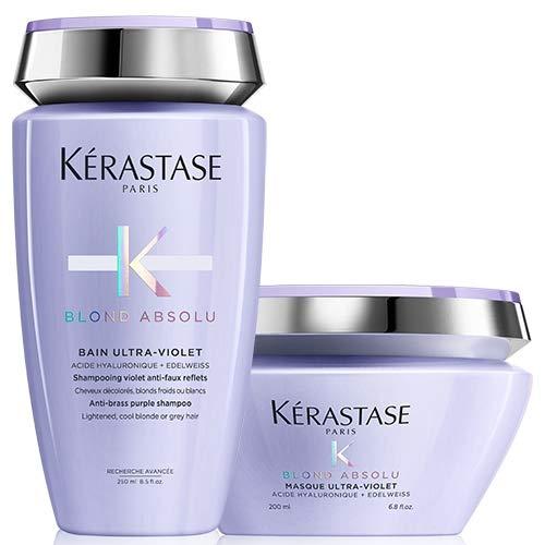 Kérastase, Blond Absolu, bagnoschiuma ultravioletta da 250 ml e maschera ultravioletta, da 200 ml