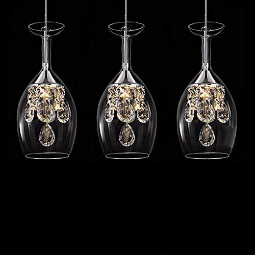 Moderne mode restaurant k9 5w kristall led wohnzimmer lampe transparent weinglas dekoration design lampe tasse rechteck 3 lampe