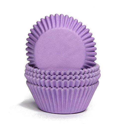 Miss Bakery's House® Papierbackförmchen - Standard - Lila - 75 Stück - zum Mitbacken im Ofen