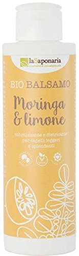 LA SAPONARIA - Balsamo Moringa & Limone - Volumizzante e districante - Per capelli leggeri...