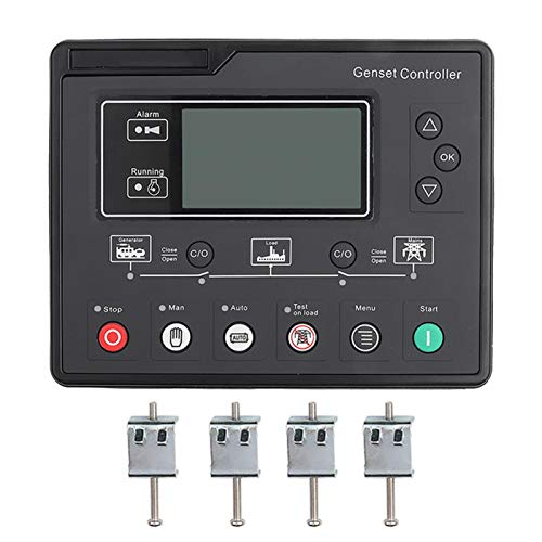 Agatige Controlador de Grupo electrógeno Panel de Control del generador para detección automática de Arranque y Parada de generador diésel HGM6120U