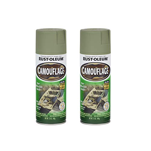 Rust-Oleum 1920830A2 Camouflage Spray Paint, 2 Pack, Army Green, 2 Count