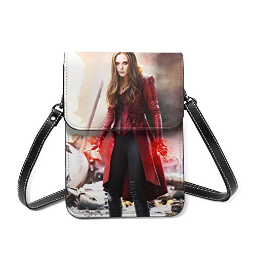 XCNGG Monedero pequeño para teléfono celular Sci-Fi SCA-rlet W-Itch Cell Phone Purse Small Crossbody Bag Women Leather Mini Cell Phone Pouch Shoulder Bag to Carry Dexterous Convenience with Adjustable