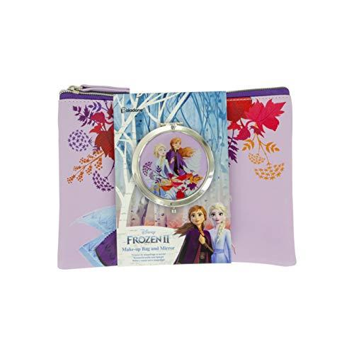 Bevroren 2 Cosmetische portemonnee en spiegel Set | Voor fans, meisjes en vrouwen van elke leeftijd | Officieel gelicenseerde bevroren verzamelbaar