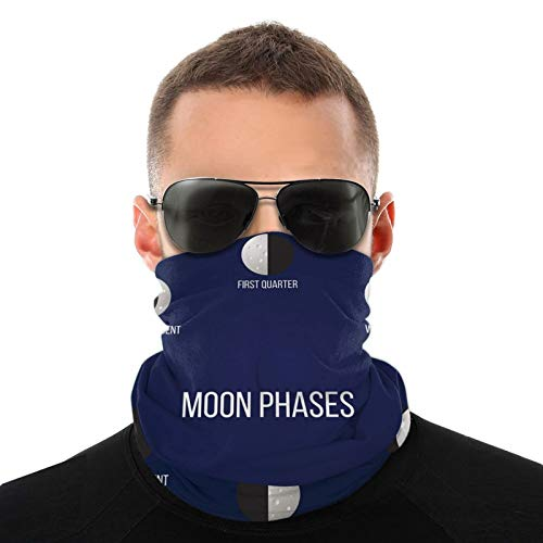 FULIYA Variety Head Scarf,Phases Of Crescent Astronomy Science Educational Pattern,Outdoor Multi-Functional Headscarf for Men Women