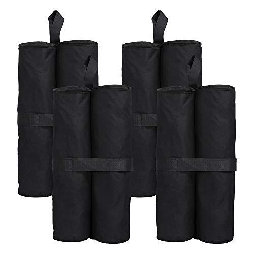 Yahee 4-delige set voor paviljoen, partytent, gewichten zwart