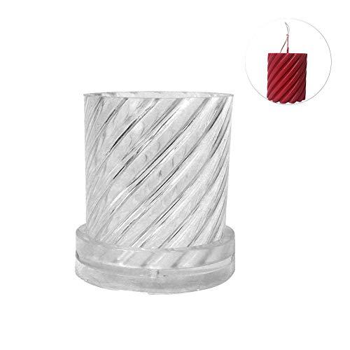 Silikon Kerzenhalter Form Handgemachte 3D Handwerk Silikonform DIY Kerzenst/änder Kerzenform Rund Zylinderform F/ür Weihnachten Hochzeit Dekoration