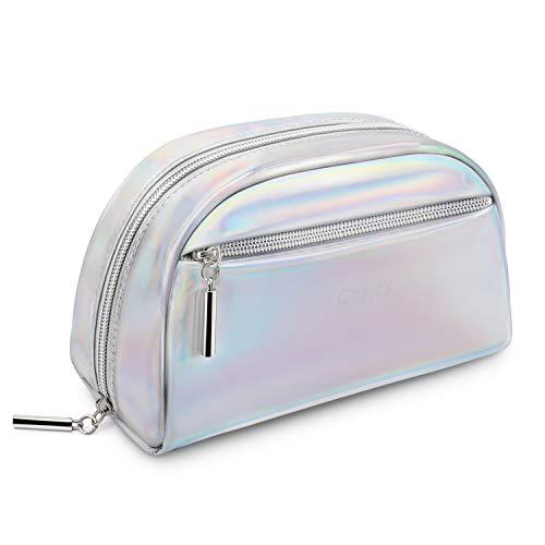 Gonex make-up tas kleine cosmetische zak metallic PU leer voor handtas waterdichte toilettas vrouwen draagbare dagelijkse opslag organisator