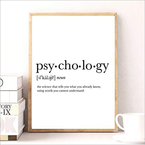 Danjiao Psychologe Geschenke Drucken Lustige Definition Poster Psychologie Zitat Leinwand Malerei College Wohnheim Zimmer Wand Kunst Minimalistischen Poster Wohnzimmer 40x60cm