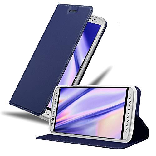 Cadorabo Hülle für ZTE Axon 7 Mini in Classy DUNKEL BLAU - Handyhülle mit Magnetverschluss, Standfunktion & Kartenfach - Hülle Cover Schutzhülle Etui Tasche Book Klapp Style