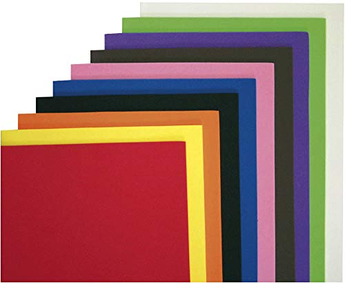 Eduplay 200046 Lot de 10 feuilles de caoutchouc mousse Multicolore Format A4