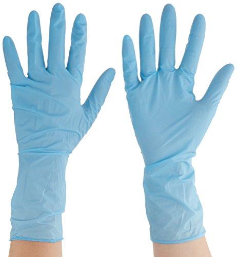 Ansell TouchNTuff 92-665 Nitril Handschuhe, Chemikalien- und Flüssigkeitsschutz, Hellblau, Größe 7.5-8 (100 Handschuhe pro Spender)