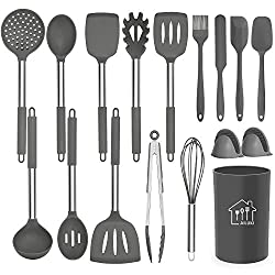 top rated Silicone kitchen utensils set, kitchen utensils kitchen utensils set 17 pieces, non-stick heating … 2021