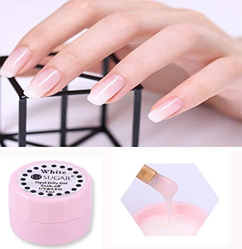 Esmalte de uñas CoulorButtons, de 5ml, para manicura, en gel, UR SUGAR, color blanco, para Nail Art