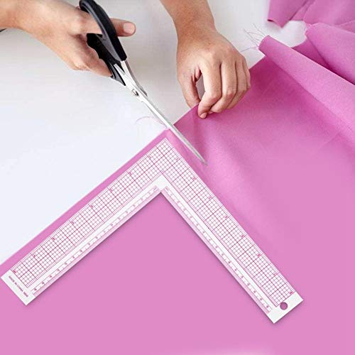 Plastic L-Square Ruler Sewing Measuring 90 Degree Professional Tailor Ruler Garment Pattern Dress Making Craft Tool French Curve(5808)