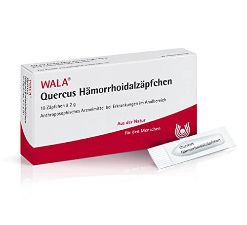 Wala Quercus Hämorrhoidalzäpchen für den Analbereich, Kur-Set, 2x10 Zäpfchen
