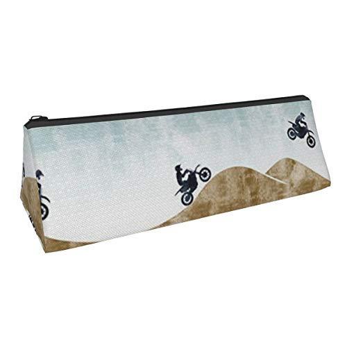 Grinchmas - Estuche para lápices, diseño triangular, bolsa de almacenamiento, bolsa de papelería simple para estudiantes
