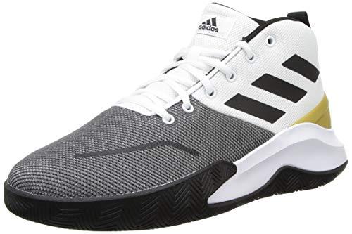 Adidas Men's OWNTHEGAME Basketball Shoe- FTWWHT/CBLACK/Goldmt, 8 UK
